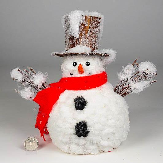 Santa, Snowman & Ornaments