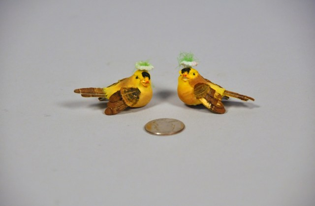 Bird Yellow w/Flower 2""