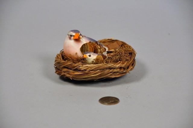 """Bird Purple in Nest Asst*2 4.25"""""""