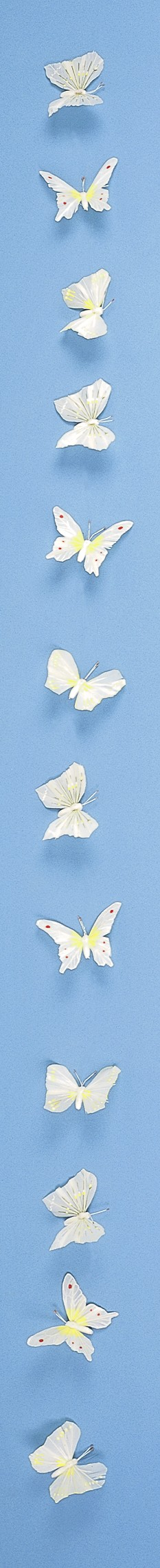 Butterfly Garland White 3""