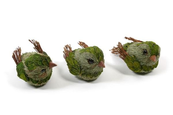 """Bird Green Leaf Twig 4"""""""