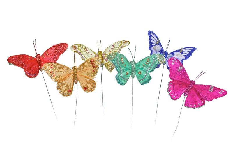 """Butterfly Glit Asst*6 3"""""""