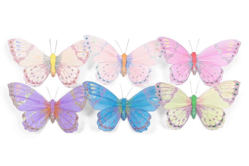 """Butterfly Glit Asst*6 7"""""""