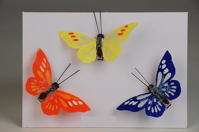 """Butterfly Asst w/Clip 2.75"""""""