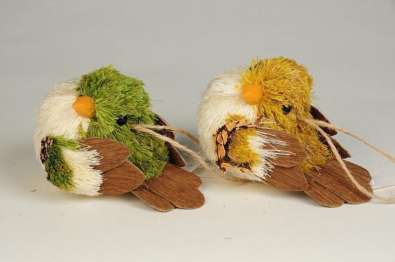 """Bird Grass/Jute Asst*2 3.5"""""""