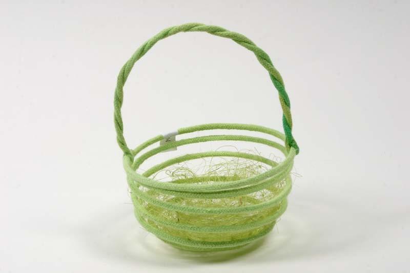 "Easter Basket Circular Grn w/Jute 5"""