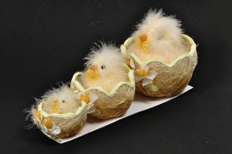 """Chick Fuzzy Lte Beige in Nest 3"""""""