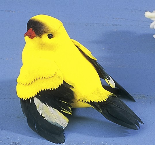 "Bird Finch Yellow 4"""