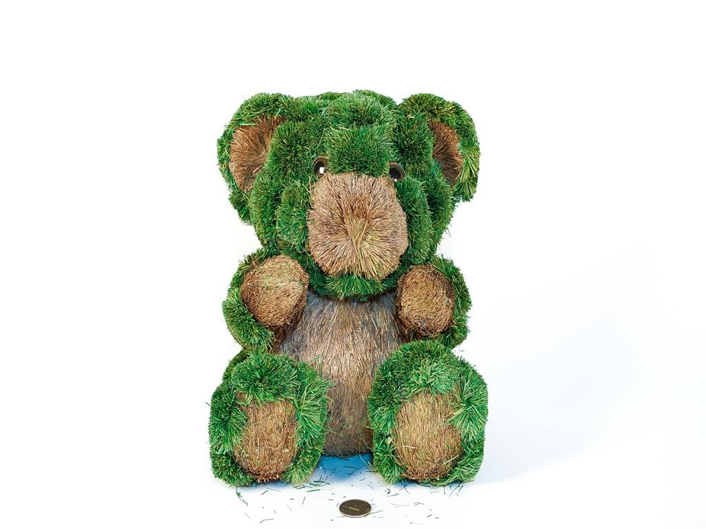 Bear Green/Brn Jute Sitting 11""