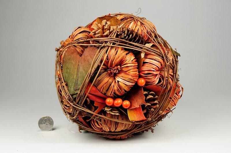 """Ball Orange Mini Pumpkins w/Cone 7"""""""