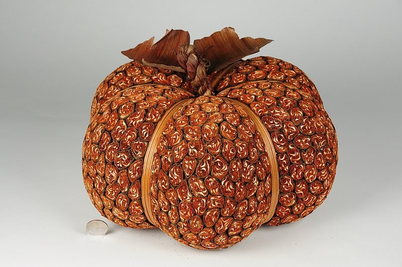 "Pumpkin Orange Leaf Bundling 12""x7"""