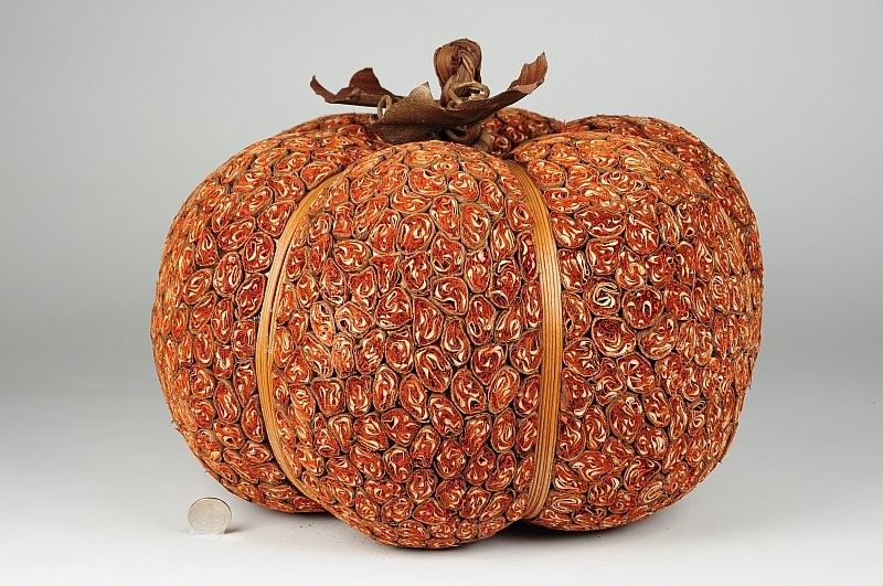 "Pumpkin Orange Leaf Bundling 15""x9.5"""