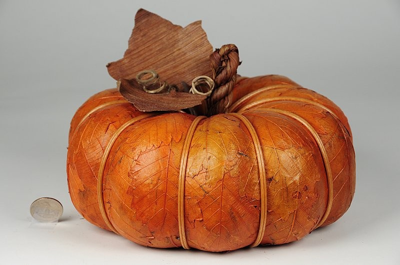 "Pumpkin Orange Leaf 8""x3"""