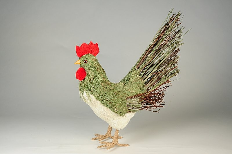 """Rooster Grass/Jute 12"""""""