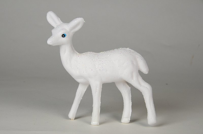 Deer White w/Glit 5""
