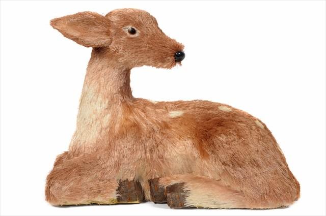 "Deer Brown Jute w/Dot Standing 17"""