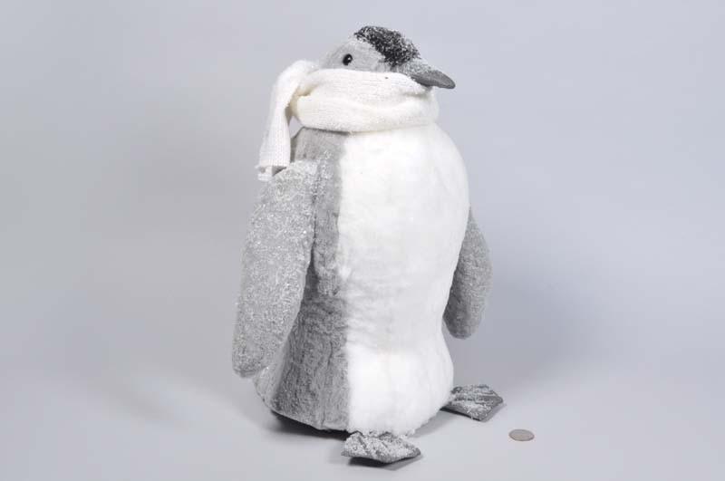 "Penguin Grey w/Scarf/Snow 15"""