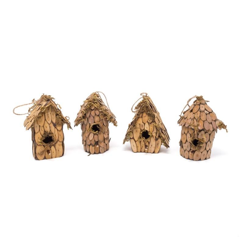 """Birdhouse A&Rd-Shape Woodchip Asst*4 5"""""""