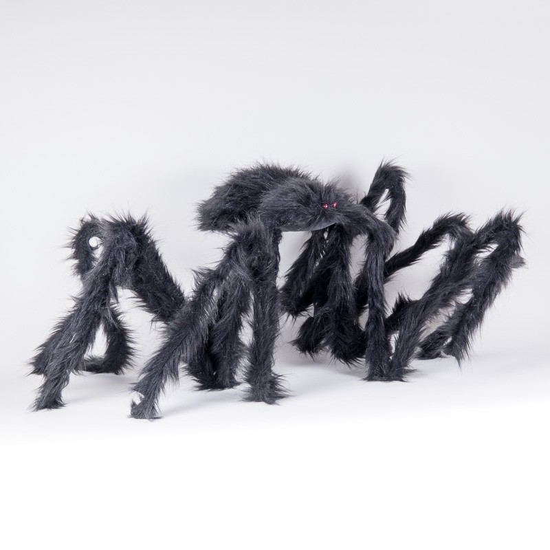 "Spider Black Furry Jumbo 79""L"