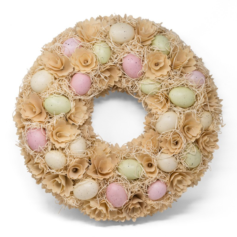 Wreath Egg Cream/Pastel 18.5""