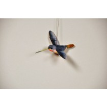 Humming Bird Blue Ormt 2.75""