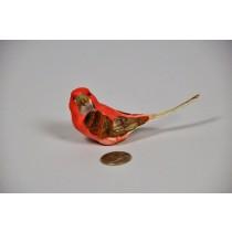 """Bird Red Sitting Long Tail 4"""""""