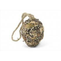 Ball Egg Shaped Nat. Lichen/Moss 3""