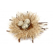 Nest Nat. Husk/Twig/Egg 4""