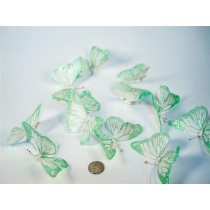 Butterfly Garland Green w Glit 4""