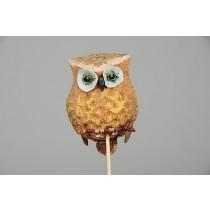 "Owl Pick Paper Mache 3"""
