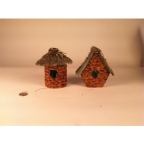 Birdhouse A&Rd-Shape Grass/Chip 6""