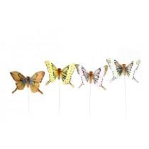 """Butterfly Grn/Yel/Pnk/Brn 2.5"""""""