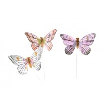 Butterfly Blue/Lav/Peach 2.5""