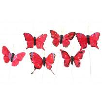 """Butterfly Red Asst 2.5"""""""