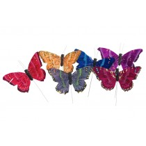 Butterfly Multi-Color Asst*6 5""