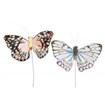 "Butterfly Glit/Crystal Asst*2 2.5"""