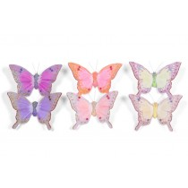 Butterfly Yellow/Pink/Lavender 2.5""