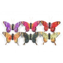 Butterfly Multi-Color Beaded Asst*6 2""