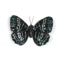 """Butterfly Black w/Blue Glit 3"""""""