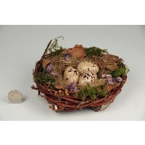 Nest Fancy Brown Twig/Grass/Egg 5.5""