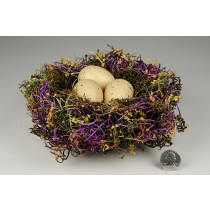 Nest Fancy Purple Grass/Flower/Egg 8""