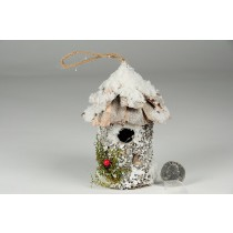 Birdhouse Rd-Shape Birch/Snow 4.5""