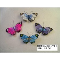 Butterfly Multi-Color Asst*4 3.25""