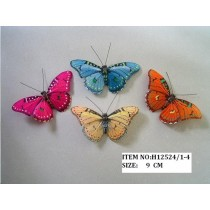 Butterfly Multi-Color Asst*4 3.5""