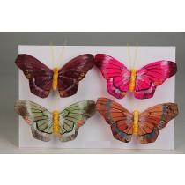 """Butterfly Asst w/Clip 4"""""""