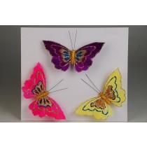 """Butterfly Asst w/Clip 5"""""""