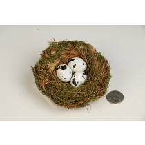 Nest Green Breath/Twig/Bark/Egg 4""