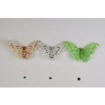 """Butterfly Asst w/Clip 3.9"""""""
