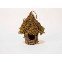 Birdhouse Rd-Shape Brown/Green Grass 5""