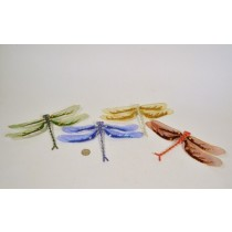 """Dragonfly Grn/Blu/Yel/Red Bead/Sequin Asst*4 9"""""""